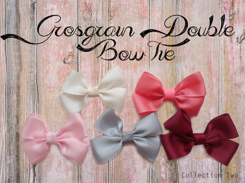 Grosgrain Double Bow Tie (Collection Two)