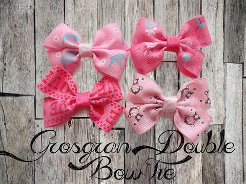 Grosgrain Double Bow Tie (Collection One)