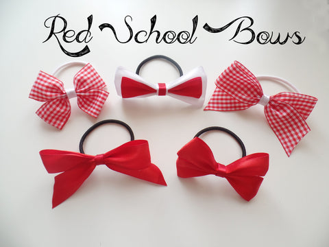Red School Bows