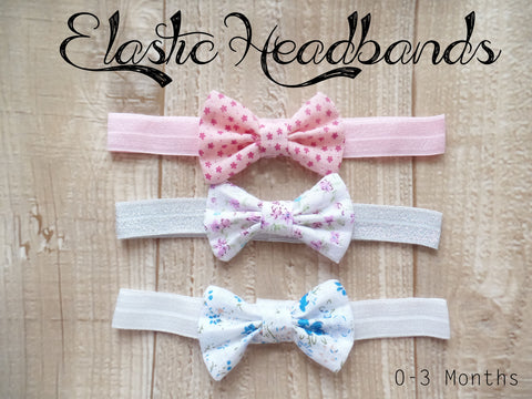 Elastic Headbands 0-3 Months