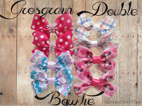 Grosgrain Double BowTie (Collection Five)