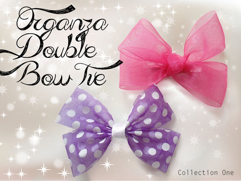 Organza Double Bow Tie (collection One)