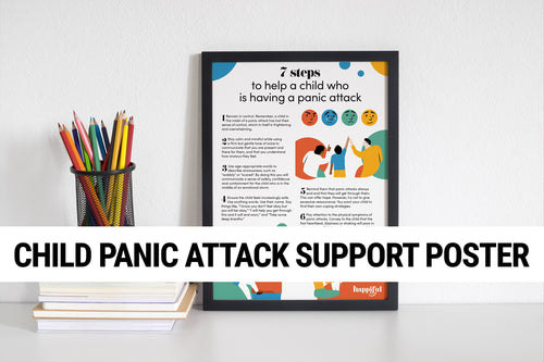 Child panic attack support poster