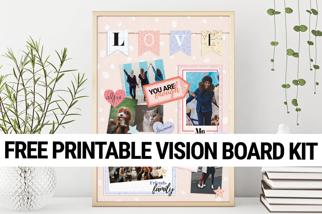 Printable Vision Board Craft Kit
