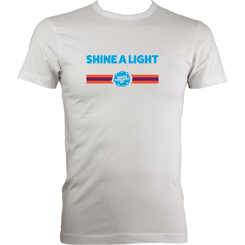 Mens Fitted Shine a Light T-Shirt Design B 2019