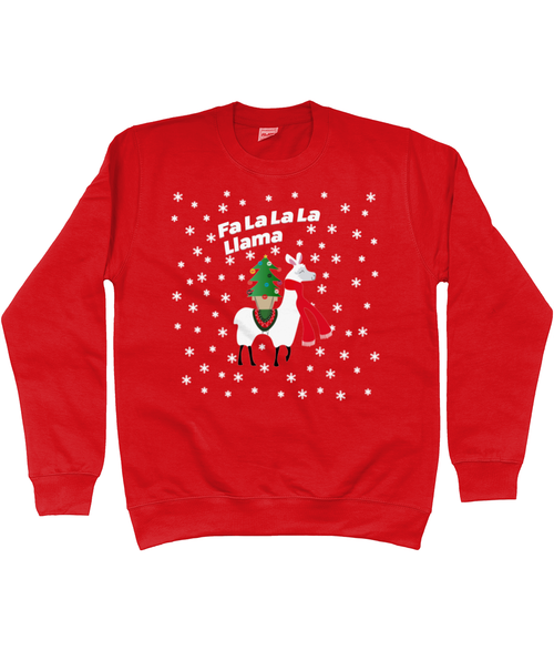 Fa La La Lama Kids Christmas Jumper