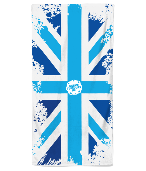 Nerve Tumours UK Union Jack Beach Towel