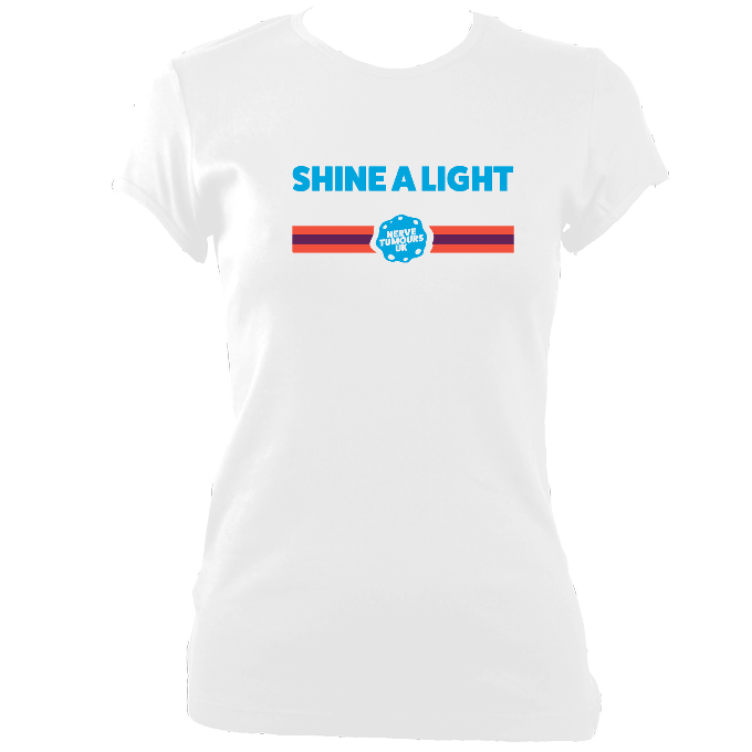 Womens Fitted Shine a Light T-Shirt 2019 Design B