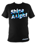 Shine A Light Fitted Union Jack (#StaySafe) T-Shirt - Children's