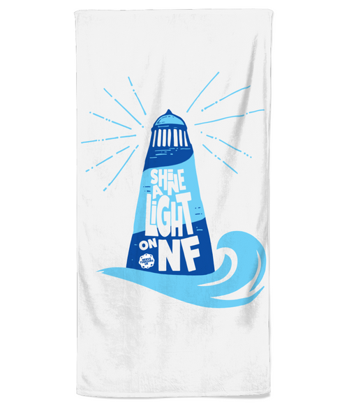 Shine a Light on NF Lighthouse - Beach Towel