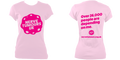 Womens Fitted T-shirt (Pink Logo)