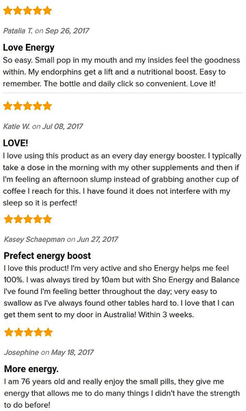 sho energy vegan b vitamin & matcha reviews