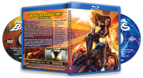 Frankenstein Created Bikers Bluray / DVD Combo (Signed and numbered)
