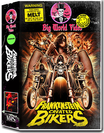 Frankenstein Created Bikers VHS / Blu-ray  Combo
