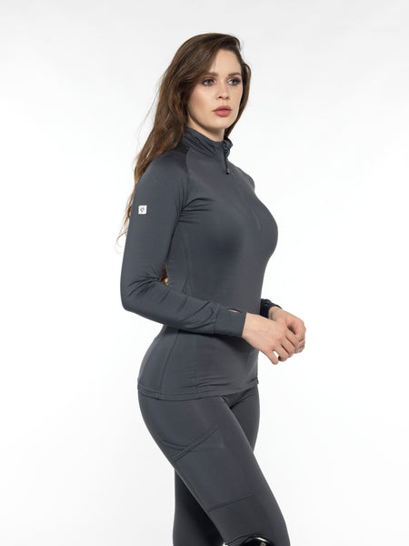 equestrian base layer charcoal