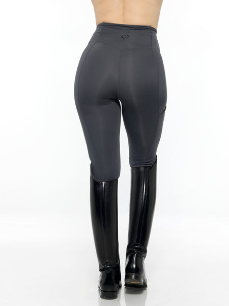 black heart charcoal leggings