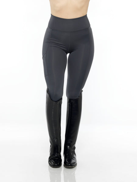 black heart equestrian charcoal leggings