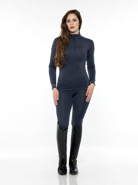 equestrian blue base layer