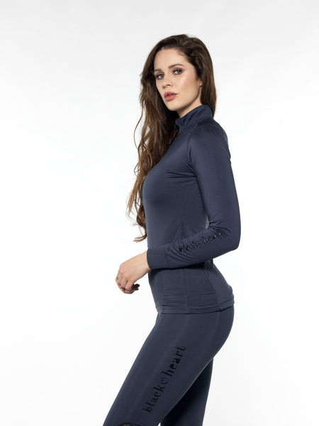 equestrian dark blue base layer