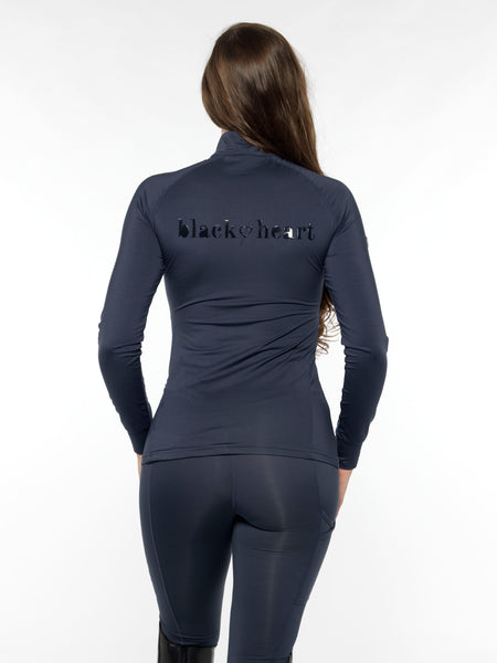 horse riding dark blue base layer