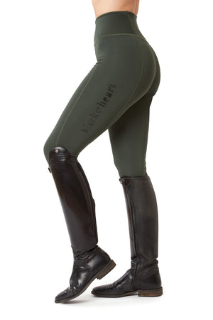 Flex Riding Leggings - Forest Green