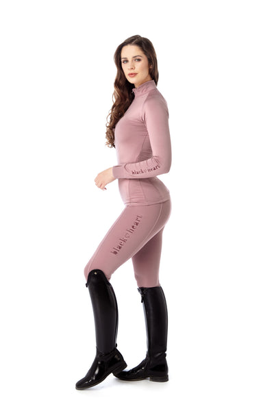 horse riding pink base layer