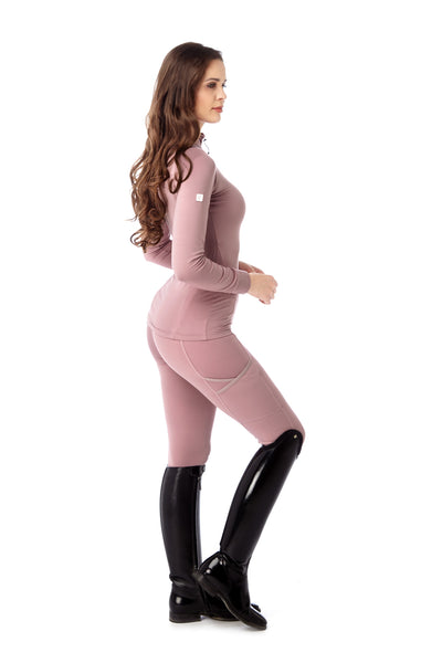 high quality light pink leggings