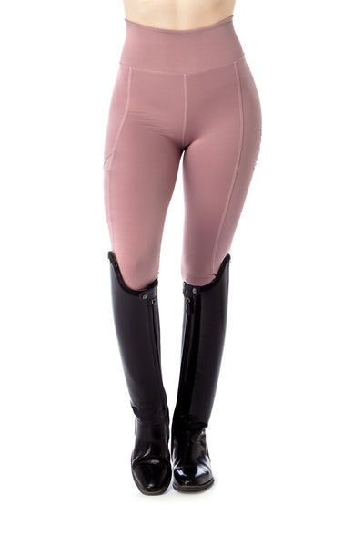 light pink horse riding leggings