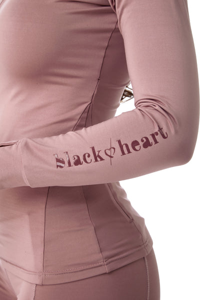 black heart pink base layer