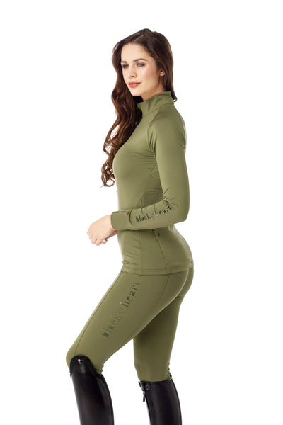 equestrian green base layer