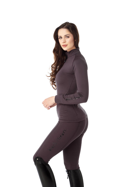 purple horse riding leggings