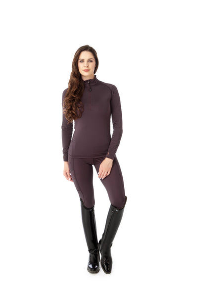horse riding plum base layer