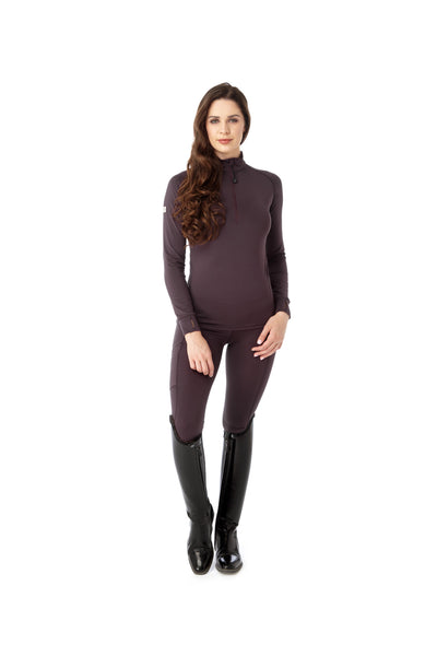 Flex Riding Leggings - Plum