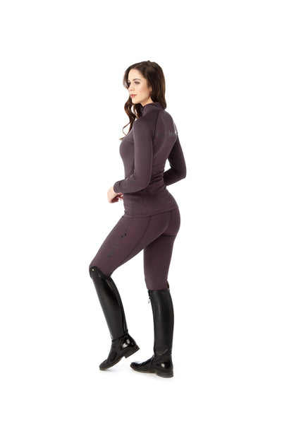 purple riding leggings