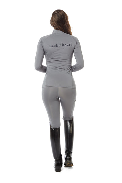 horse riding grey base layer