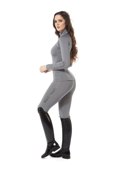 black heart grey leggings