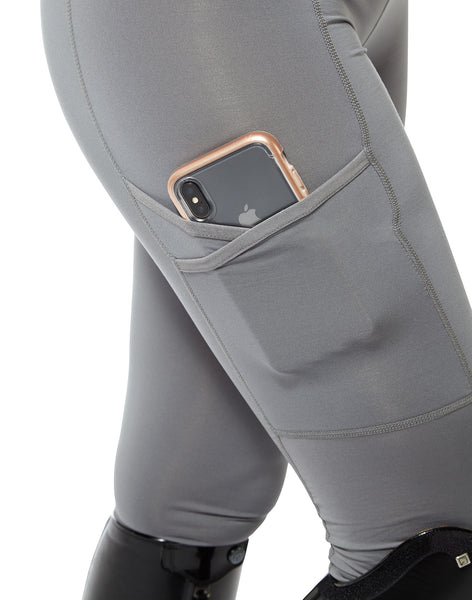 grey leggings with a pocket