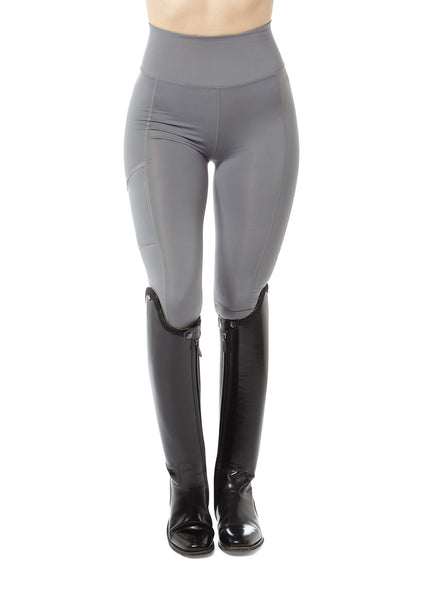 grey horse riding leggings