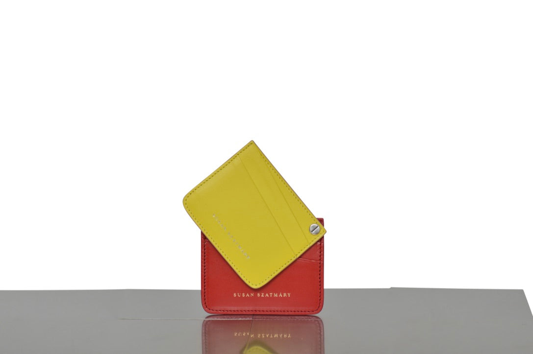 CARD HOLDER SAINT PLACIDE LIME AND RED