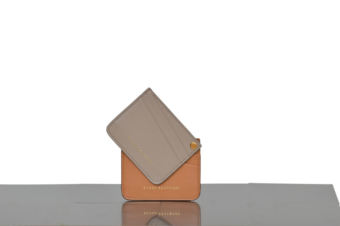 CARD HOLDER SAINT PLACIDE NATURAL AND NUDE