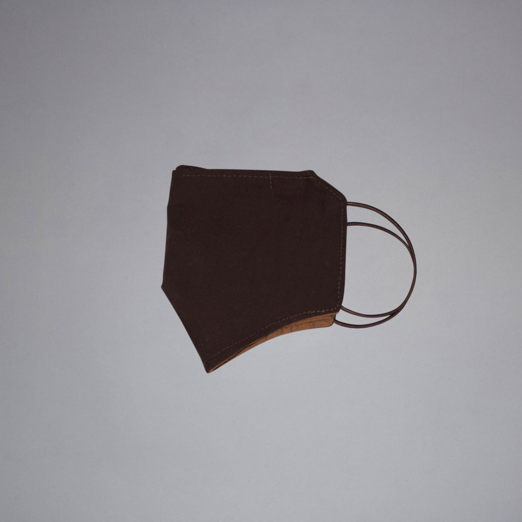 Dark Brown Fabric Mask
