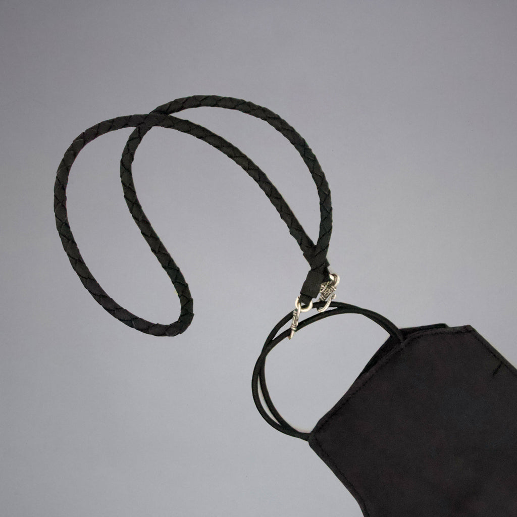 Black Mask Holder Necklace