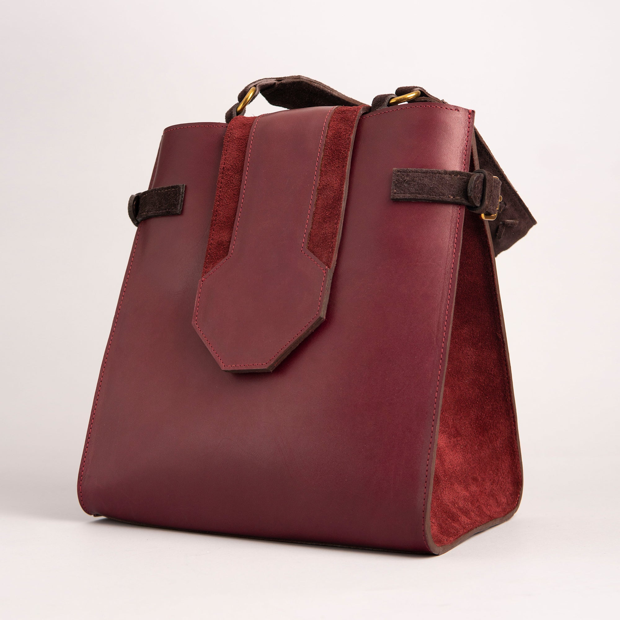 Nelly Handbag, Burgundy