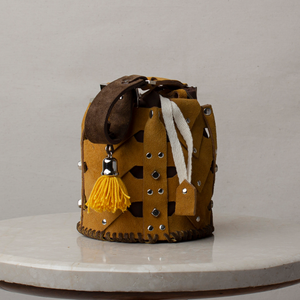 Vertebrae Bucket - Mustard Mini