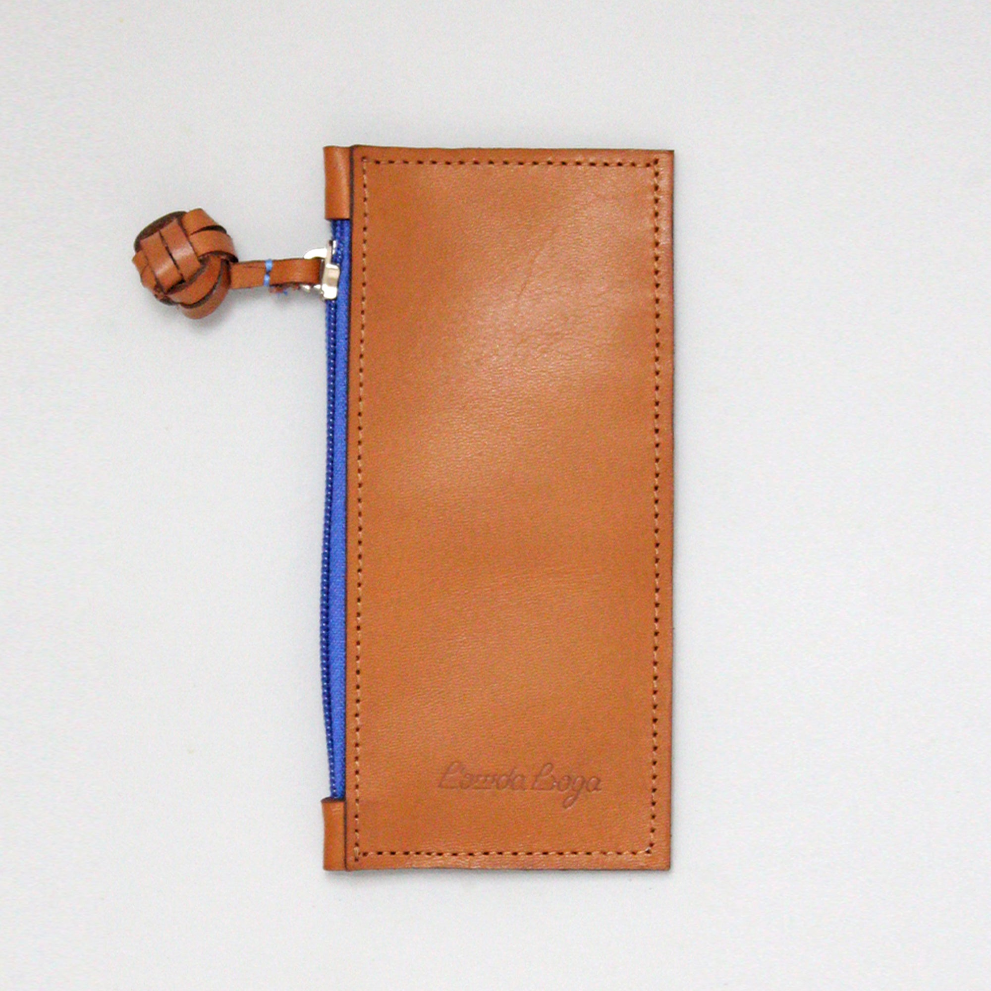 Camel and Blue Cardholder, Long