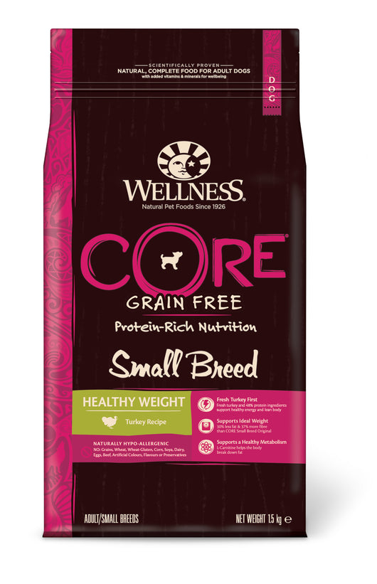Wellness CORE Small Breed Healthy Weight - Turkey 4 x 1.5kg = 6kg