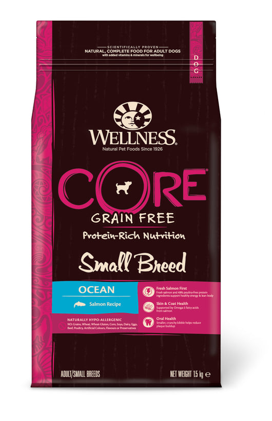 Wellness CORE Small Breed Ocean - Salmon with Tuna 4 x 1.5kg = 6kg