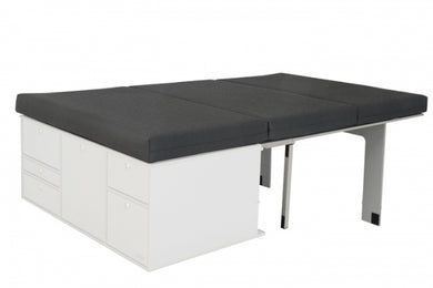 Caddy SleepSystem Double incl. Mattress for use with V3 VanEssa Kitchen