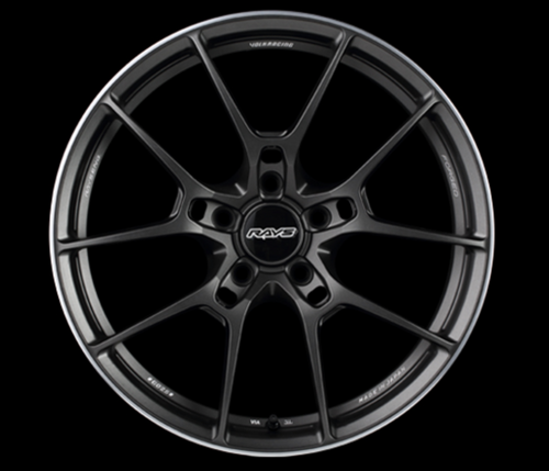 [Set of 4] RAYS VOLKRACING G025 19x8.5J +44 5x100 Matte Gunblack