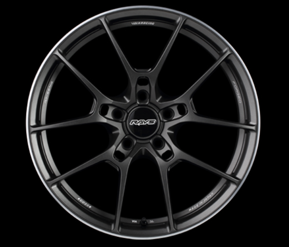 [Set of 4] RAYS VOLKRACING G025 19x8.0J +44 5x100 Matte Gunblack